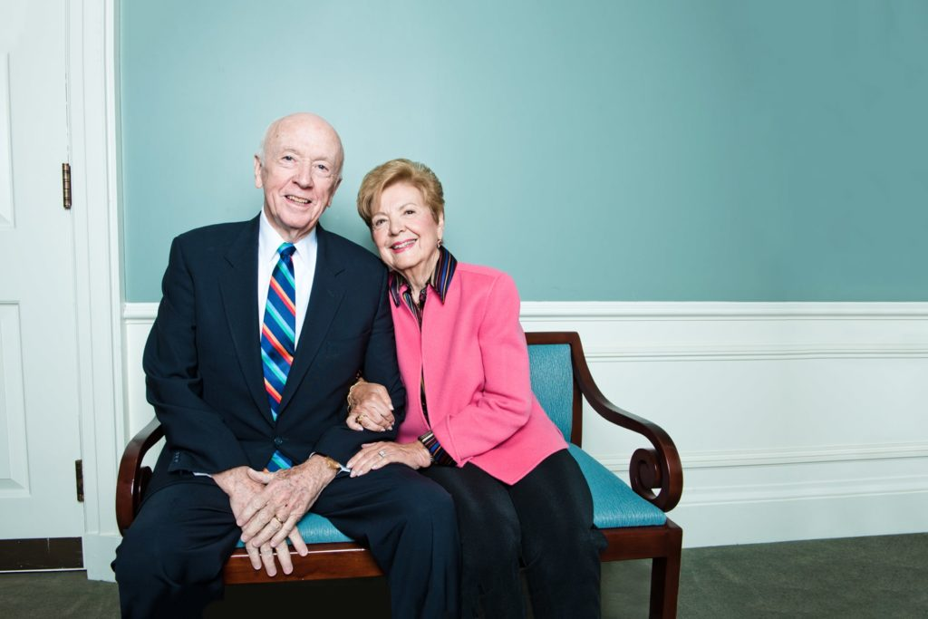 Joan Padula Campbell '56 and her husband, Robert,
