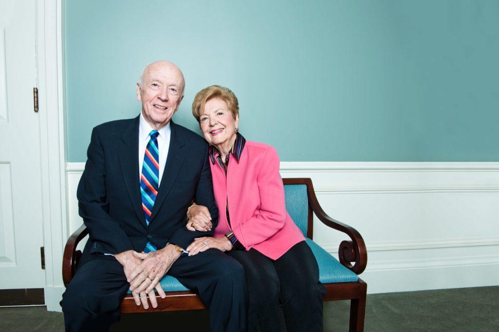 Joan Padula Campbell '56 and her husband, Robert,